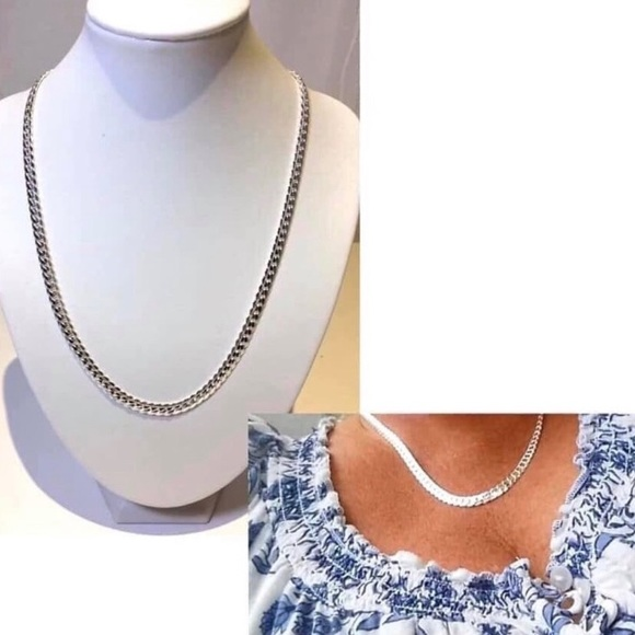 Beautiful Silver Plated Chain Necklace